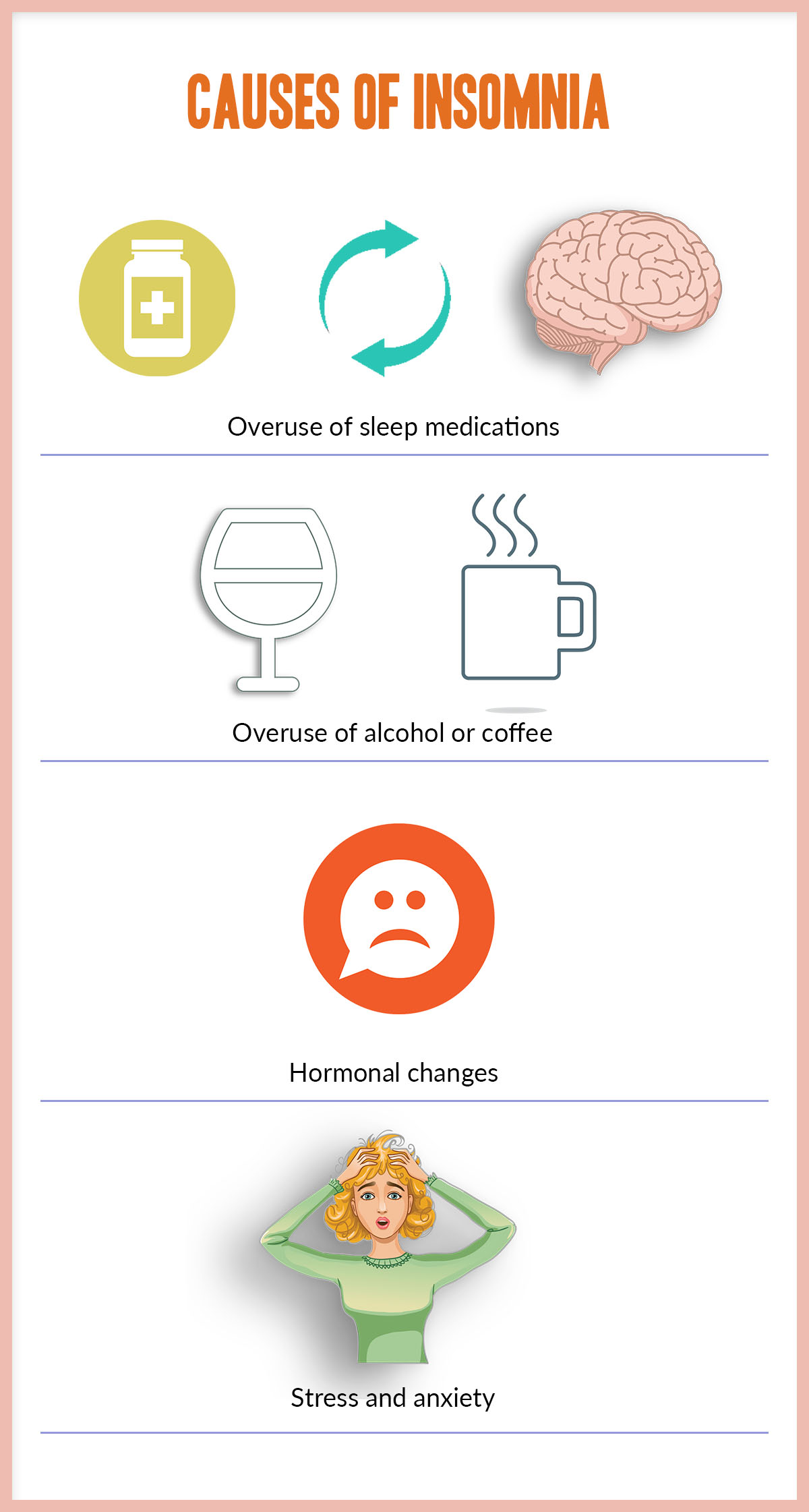 Things that cause sleeping problems