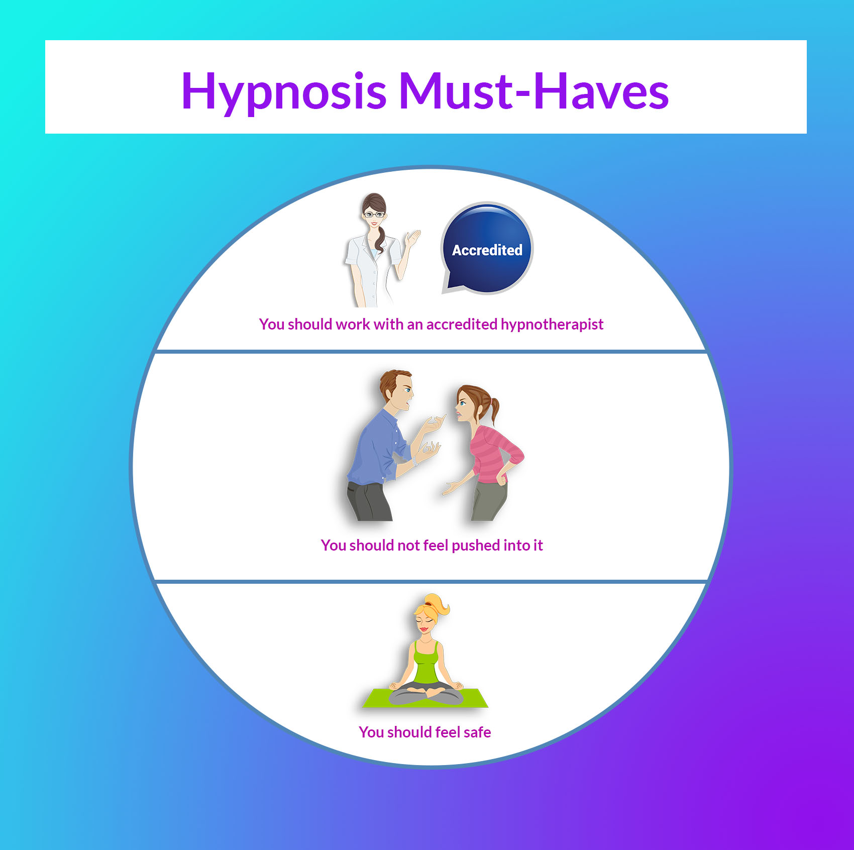 Things you must have for a successful hypnosis session