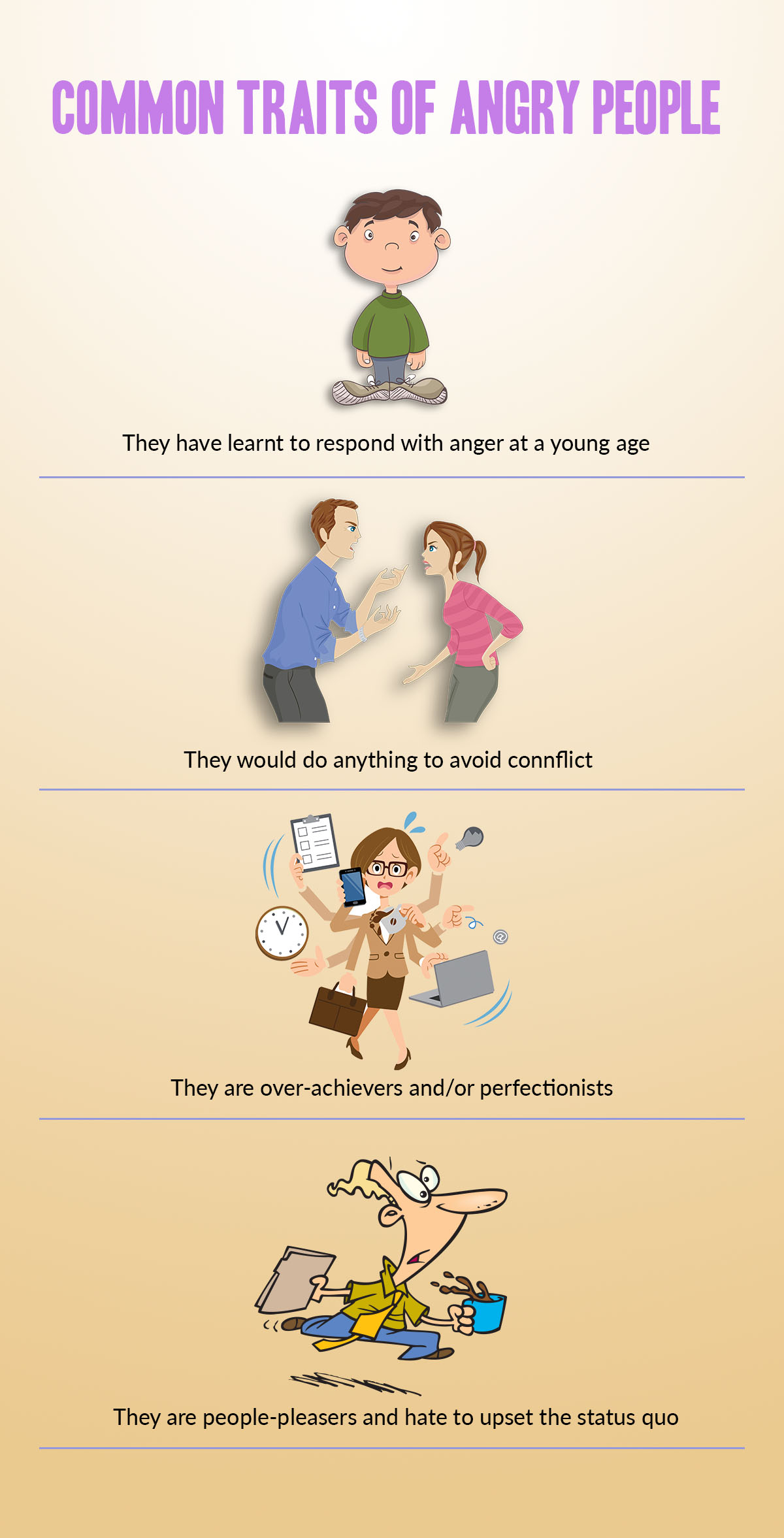 Things that exacerbate the problem of anger