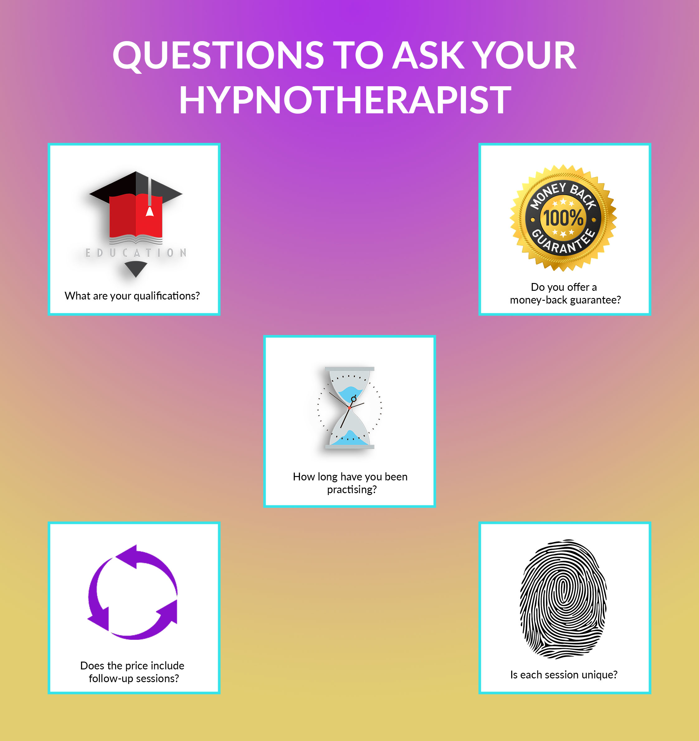 Things you should ask your hypnotherapist