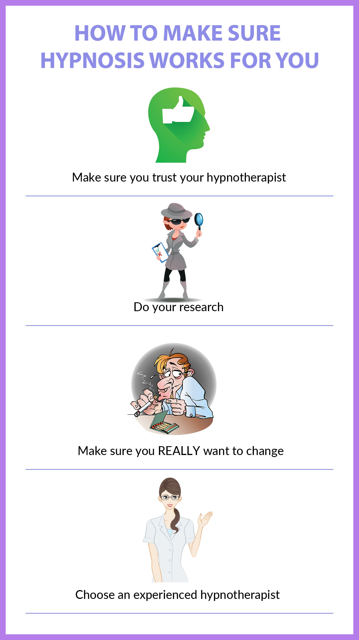 Tips to make sure hypnotherapy works